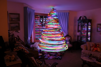 Now that's an electric Christmas tree!
